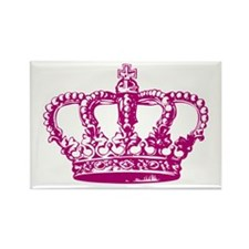 Pink Crown Rectangle Magnet (10 pack)