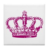 Pink Crown Tile Coaster