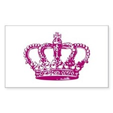 Pink Crown Rectangle Decal