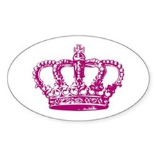 Pink Crown Oval Decal