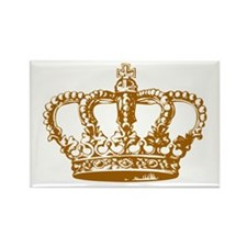 Brown Crown Rectangle Magnet