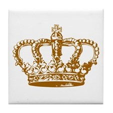 Brown Crown Tile Coaster