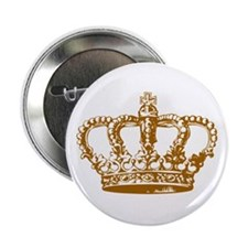"""Brown Crown 2.25"""" Button"""