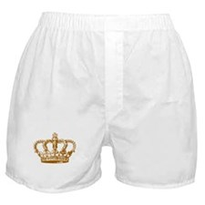 Brown Crown Boxer Shorts
