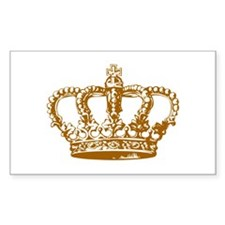 Brown Crown Rectangle Decal