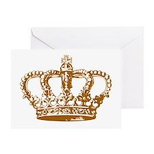 Brown Crown Greeting Card