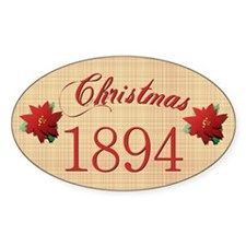 1894 Scrapbooking Christmas Oval Decal