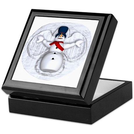 Snowman Snow Angel Keepsake Box