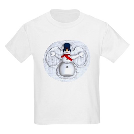 Snowman Snow Angel Kids Light T-Shirt
