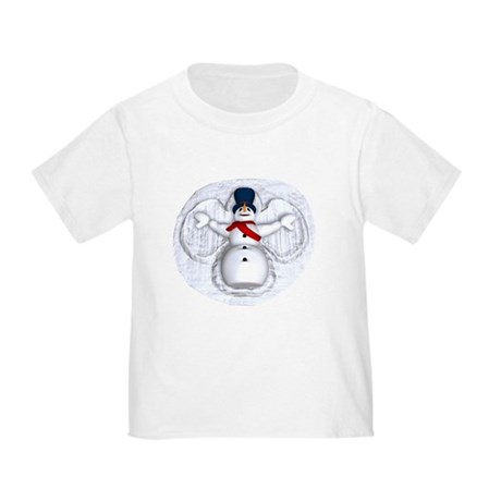 Snowman Snow Angel Toddler T-Shirt