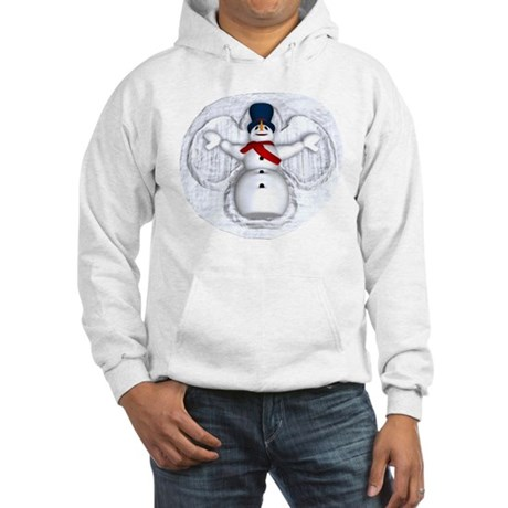 Snowman Snow Angel Hooded Sweatshirt