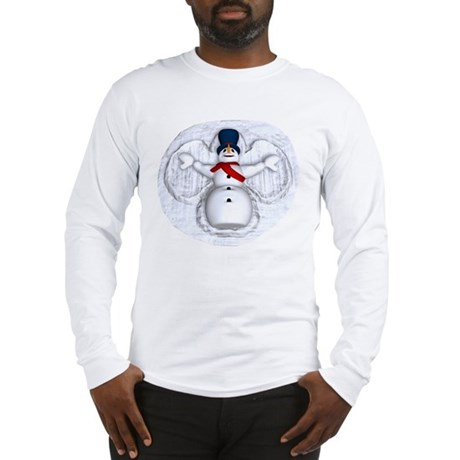 Snowman Snow Angel Long Sleeve T-Shirt