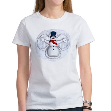 Snowman Snow Angel Women's T-Shirt