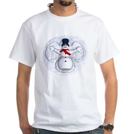 Snowman Snow Angel White T-Shirt
