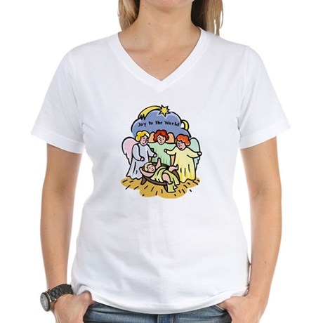 Joy to the World Women's V-Neck T-Shirt