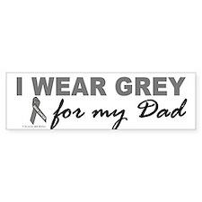 I Wear Grey For My Dad 2 (BC) Bumper Bumper Sticker