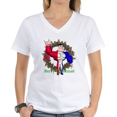 Alpha Man Women's V-Neck T-Shirt