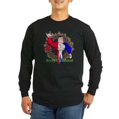 Alpha Man Long Sleeve Dark T-Shirt