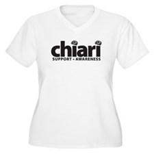 Women's Plus Size V-Neck Chiari T-Shirt
