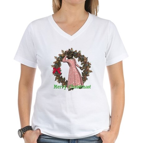 Big Bad Wolf Women's V-Neck T-Shirt