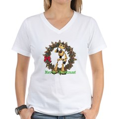 Chomper Women's V-Neck T-Shirt