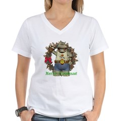 Heath Hippo Women's V-Neck T-Shirt