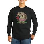 Heather Hippo Long Sleeve Dark T-Shirt