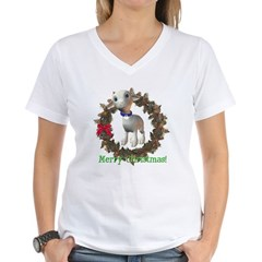 Lamb Women's V-Neck T-Shirt