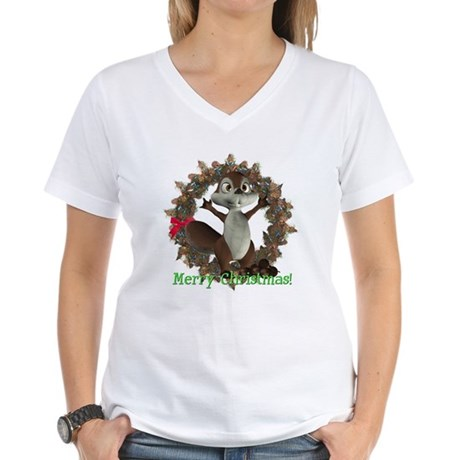 Nickie Squirrel Women's V-Neck T-Shirt