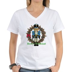 Nutcracker (Blue) Women's V-Neck T-Shirt