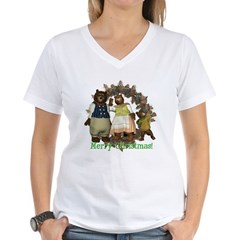 The Three Bears Women's V-Neck T-Shirt