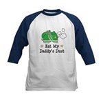 Eat My Daddy's Dust Marathon Kids Baseball Jersey