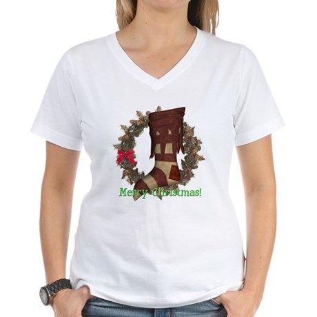 Christmas Stocking Women's V-Neck T-Shirt