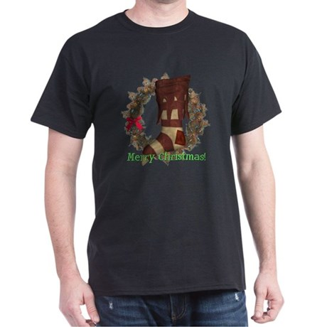 Christmas Stocking Dark T-Shirt