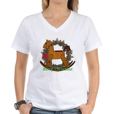 Rocking Horse Women's V-Neck T-Shirt