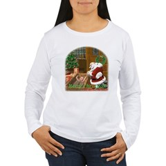 Praying Santa Women's Long Sleeve T-Shirt
