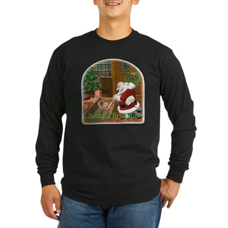 Praying Santa Long Sleeve Dark T-Shirt