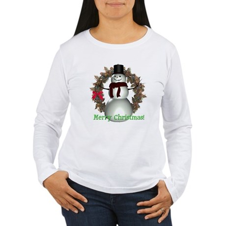 Snowman Women's Long Sleeve T-Shirt
