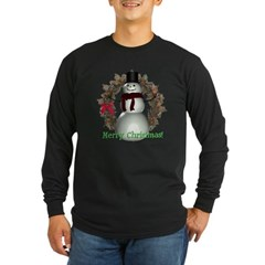 Snowman Long Sleeve Dark T-Shirt