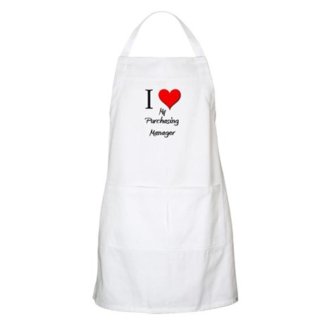 I Love My Purchasing Manager BBQ Apron