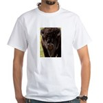 Stand Down Bison White T-Shirt