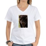 Stand Down Bison Women's V-Neck T-Shirt