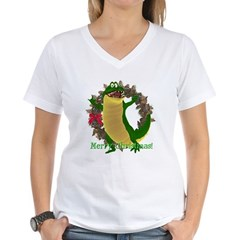 Chuck E. Steak Women's V-Neck T-Shirt