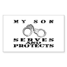 Serves & Protects Cuffs - Son Sticker (Rectangular
