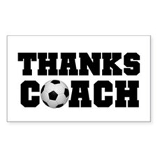 Soccer Thanks Coach Rectangle Decal