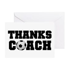 Soccer Thanks Coach Greeting Card