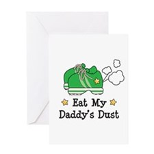 Eat My Daddy's Dust Marathon Greeting Card