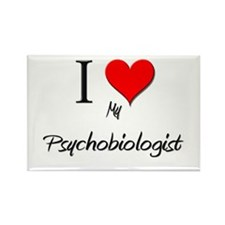 I Love My Psychobiologist Rectangle Magnet (10 pac