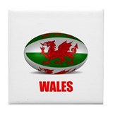 Cute Wales Tile Coaster