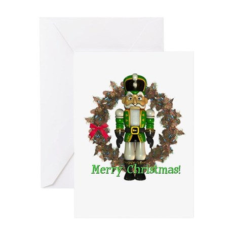 Nutcracker (Green) Christmas Card